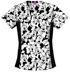 Disney 6875C Big Minnie Print Side Panel Top