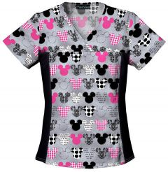 Disney 6875C MICKEY Print V-Neck Top