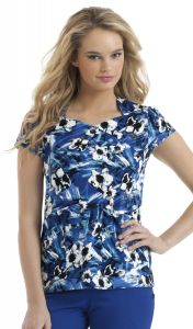 Urbane 9594 Pop Floral Galaxy Print Sweetheart Top