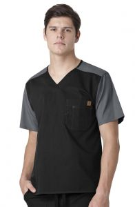 Carhartt Ripstop C14108 Men's Color Block V-Neck Top