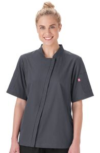 Five Star Chef Apparel 18501 Ladies Angle Zip Front Chef Coat *CLEARANCE no return or exchange*