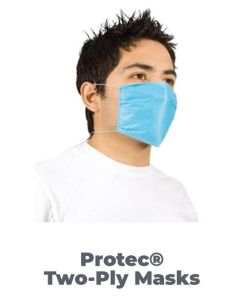 Barco Protec E502 Two-Ply Disposable PPE Face Mask - 150 Pack
