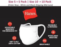 Hanes PPE Face Mask