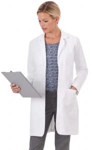 "Meta Ladies 1097 Trench Style 35"" Lab Coat *CLEARANCE*"