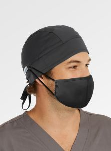 Maevn NC015 Unisex Scrub Cap With Button For Mask Strap