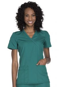 Cherokee Workwear WW650 Mock Wrap Top