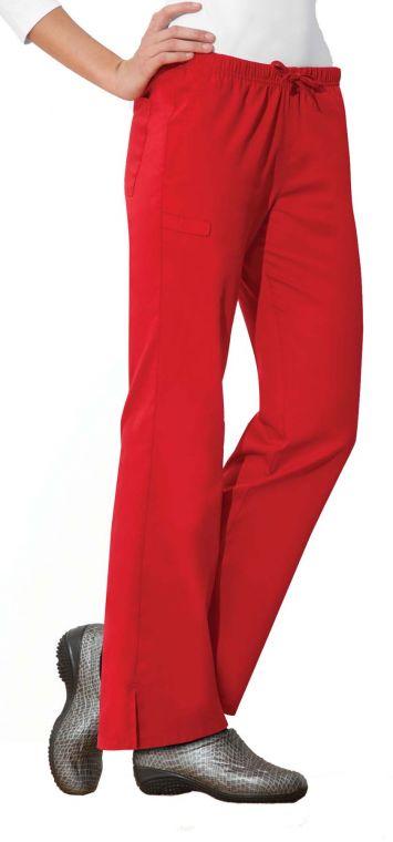 Scrubs Cherokee WW Flex Elastic Waist Pant 44200A Red FREE SHIPPING