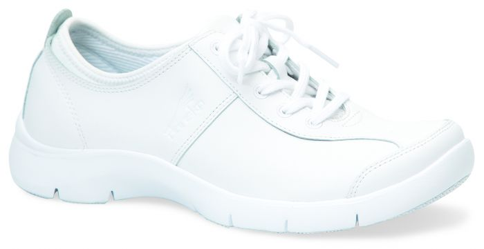 Elise - White Leather | Dansko Suede Shoes