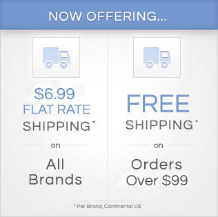 Now Offering Flat Rate and FREE Shipping!